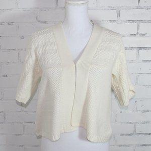 Short Sleeve Sonoma Off White Sweater